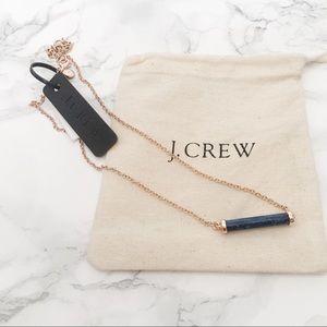 J. Crew Stone Bar Pendant Necklace